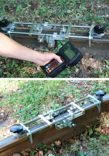 Manual testing of rails and welded rail connections with Sonocon B and USR-01